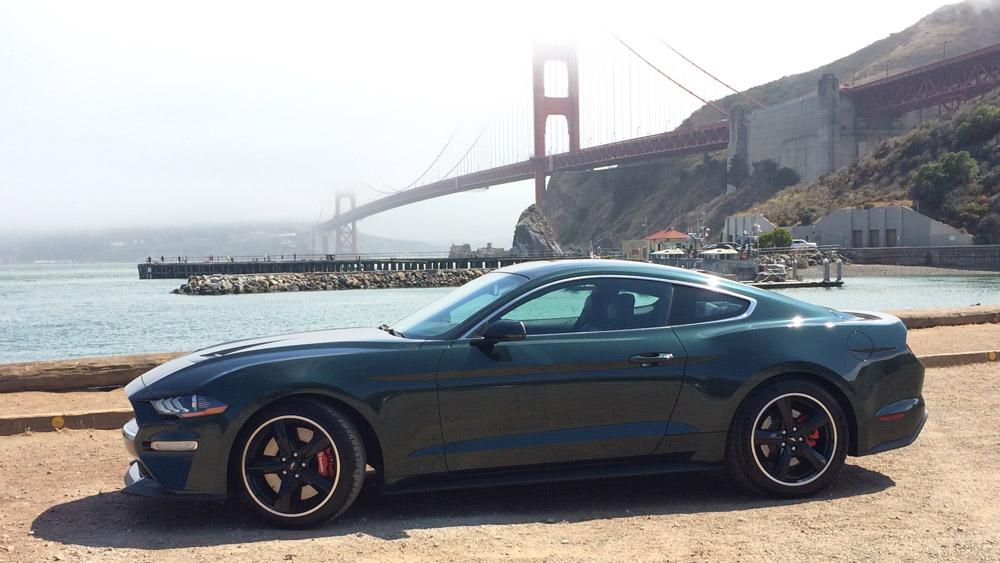 The 2019 Ford Mustang Bullitt in San Francisco.