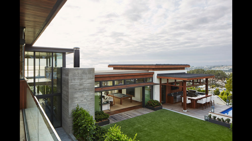 modern home with views