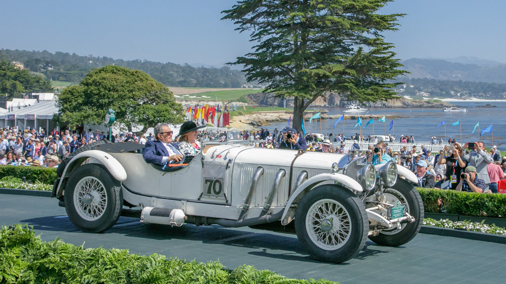 The 1929 Mercedes-Benz 710 SS Barker Tourer Race Car that won awards at the 2018 Pebble Beach Concours d'Elegance.