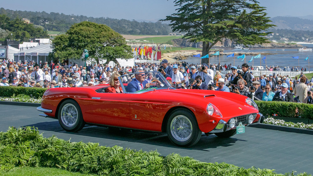 The 1957 Ferrari 250 GT Pinin Farina Cabriolet Series I that won its class at the 2018 Pebble Beach Concours d'Elegance.