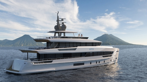 LOV 38 superyacht concept Lynx Yachts, Omega Architects, and Van Oossanen Naval Architects