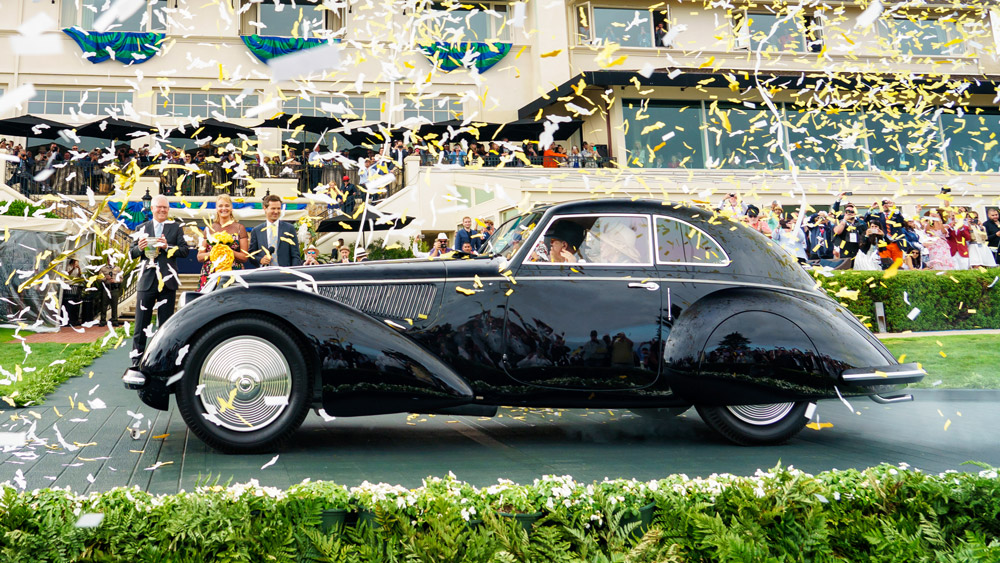 The 1937 Alfa Romeo 8C 2900B Touring Berlinetta that won Best of Show at the 2018 Pebble Beach Concours d'Elegance.