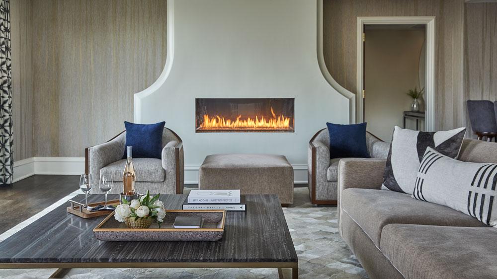 Sagamore Pendry Baltimore fireplace