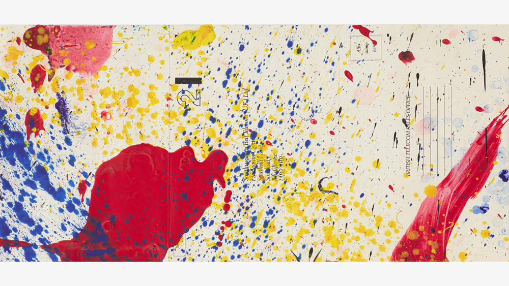 Sam Francis acrylic on paper