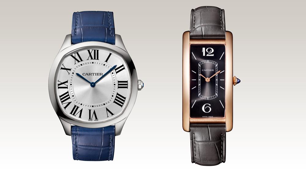 Cartier Drive de Cartier Extra-Flat and Tank Cintree watches