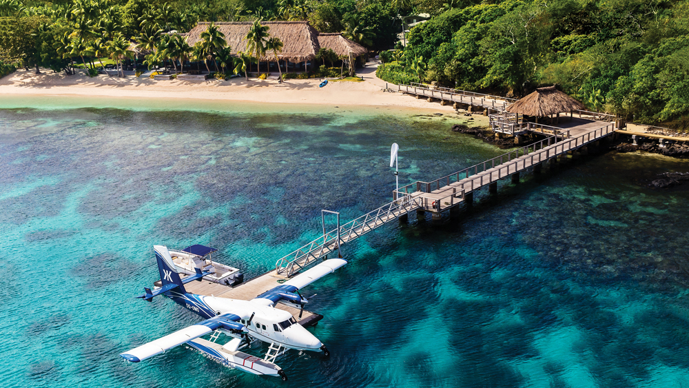 seaplane resort Fiji