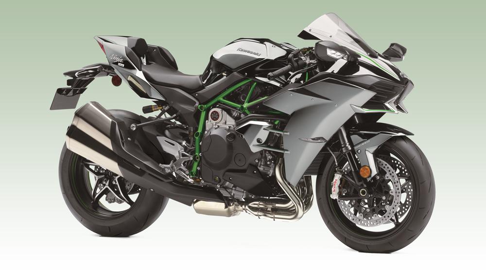 The 2019 Kawasaki Ninja H2.