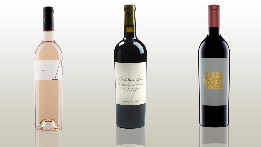 Azur, Nicholson Jones, and Covert wines