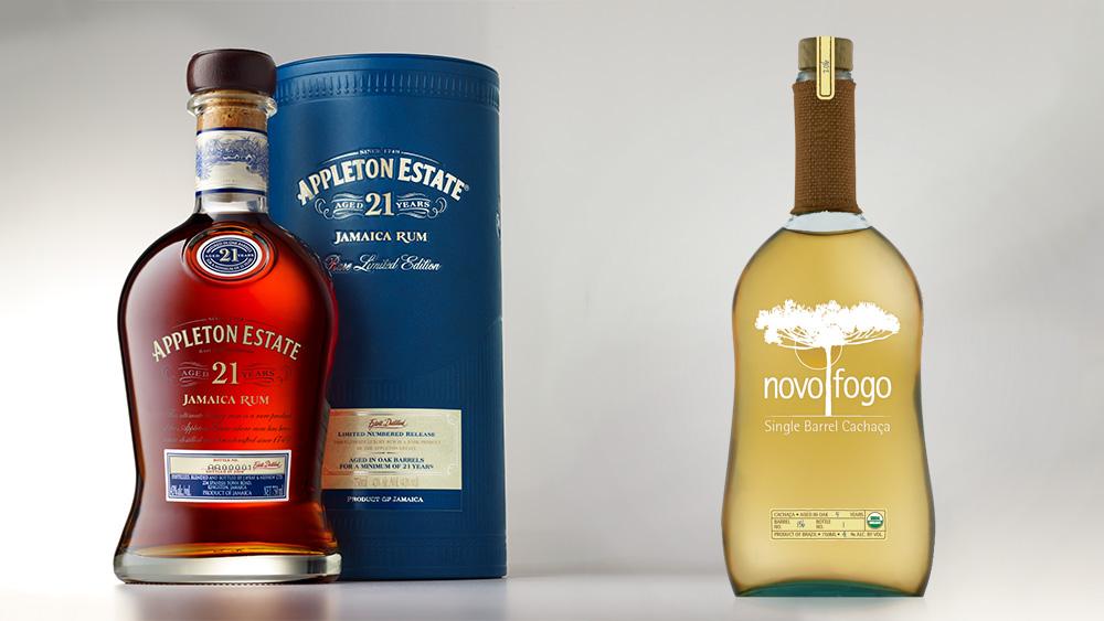 Appleton Estate Rum and Novo Fogo Cachaça