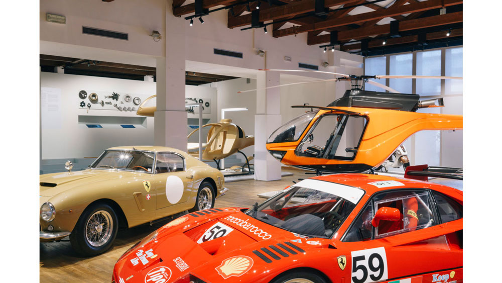 Cars, helicopter exhibit Venice