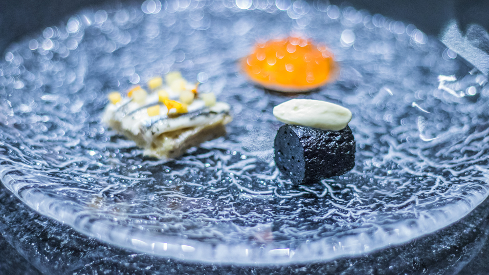 boudin trout roe anchovy