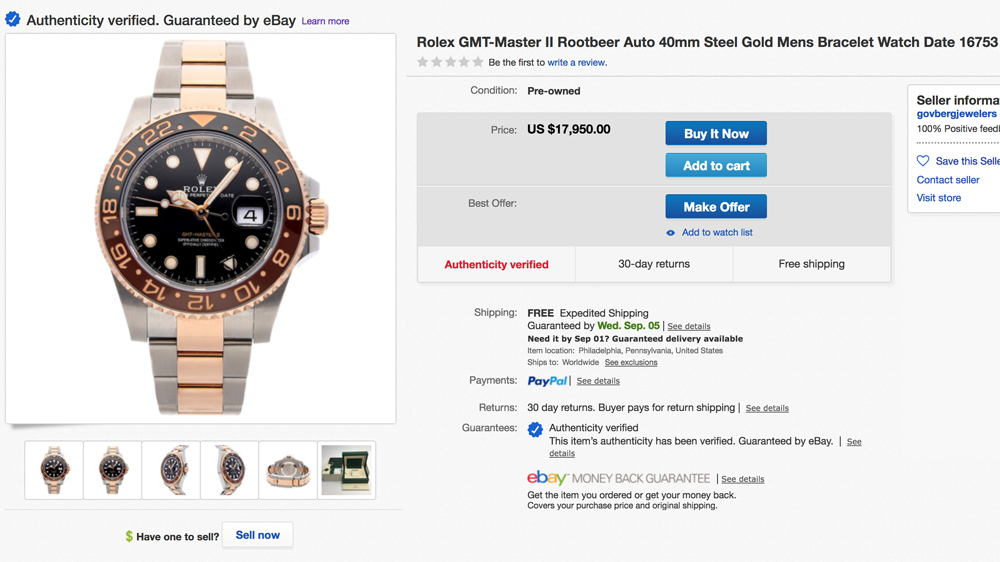Rolex watch ebay