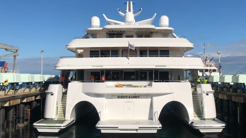 Echo Yachts White Rabbit Trimaran superyacht Charley Shadow