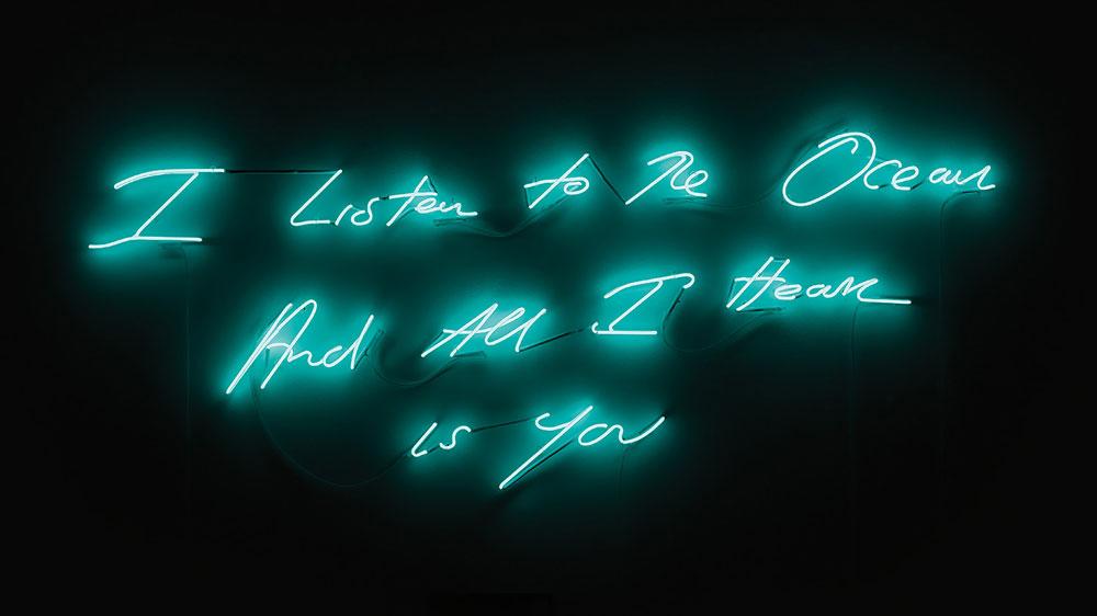Tracy Emin neon lights 2018