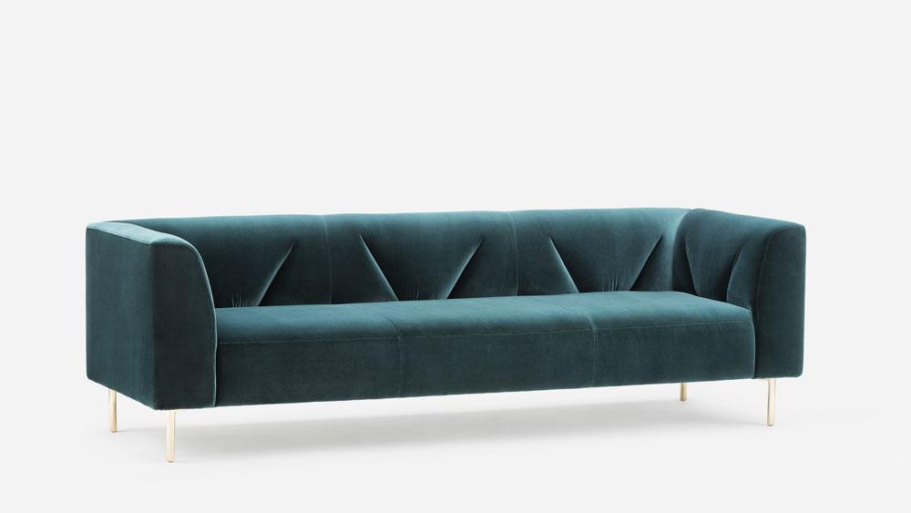 modern green sofa