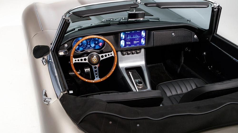 The interior of the Jaguar E-Type Zero.