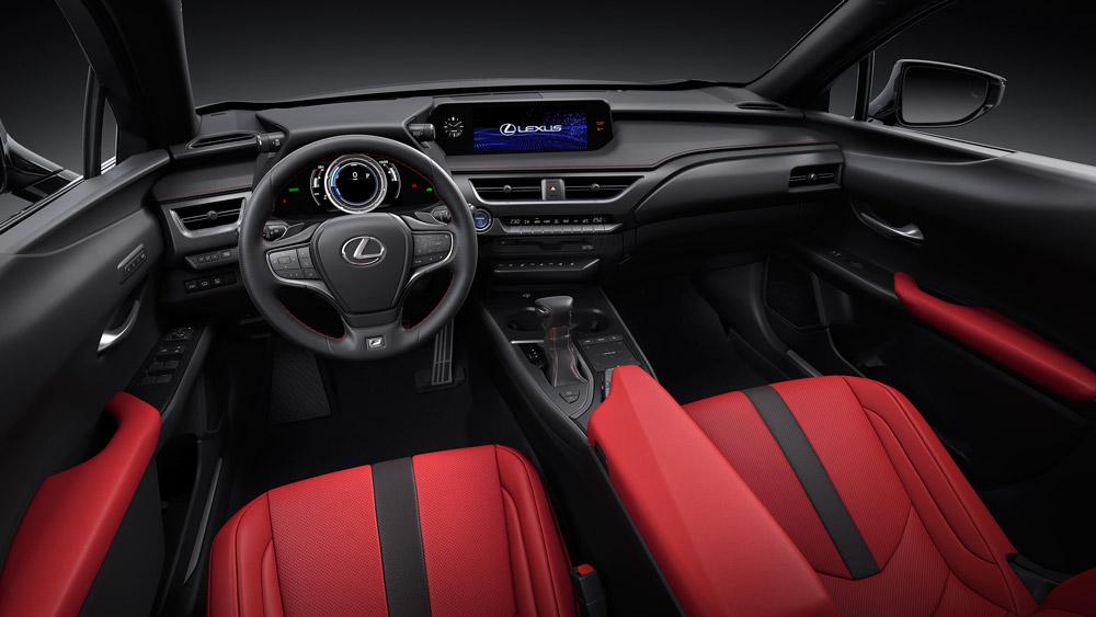 The interior of the Lexus UX.