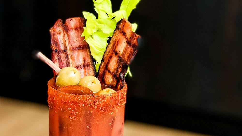 Maple Bacon Maria cocktail