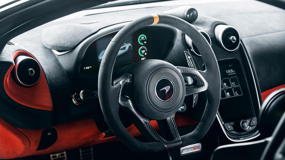 Inside the McLaren 600LT.