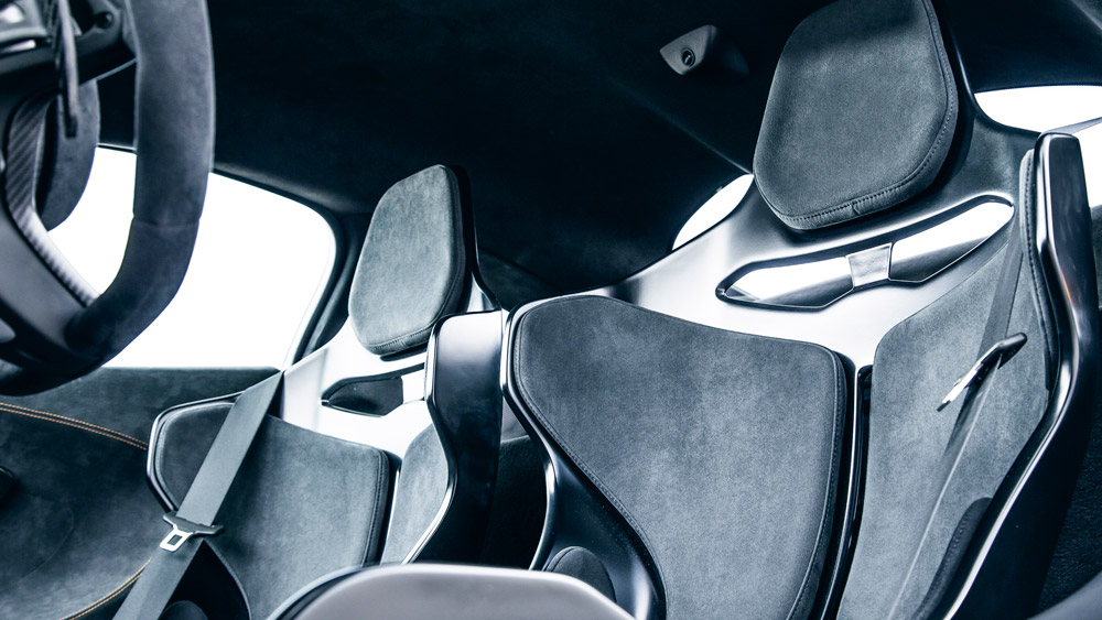 Seats inside the McLaren 600LT.