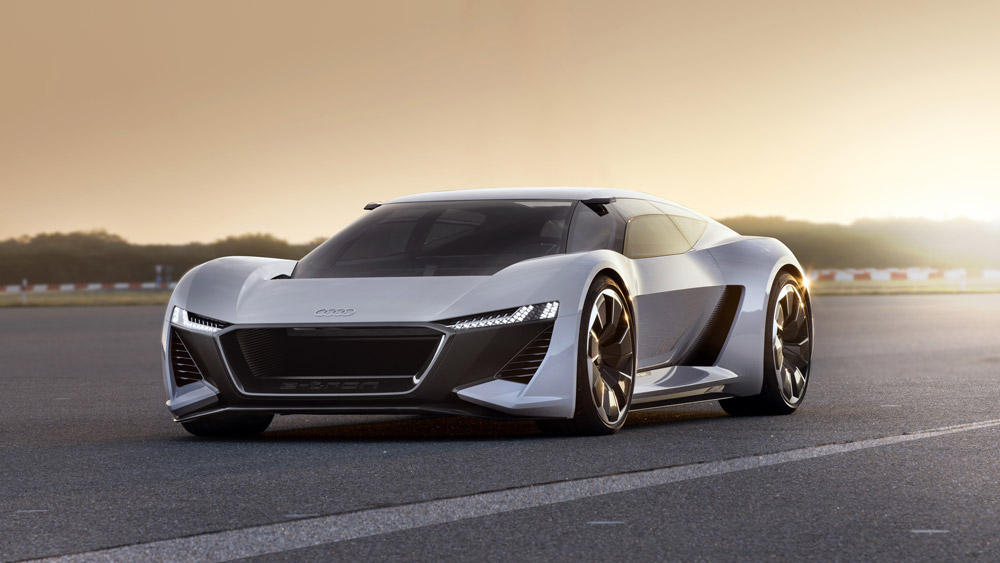 Audi's computer-driven studio is churning out new designs, like the PB18 e-tron.