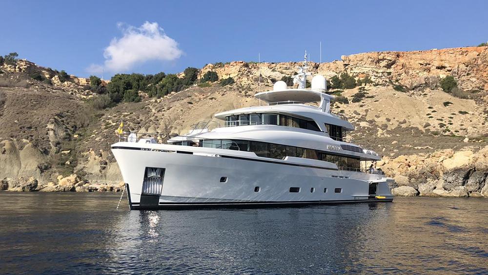 Monaco Yacht Show High-tensile steel superyacht Moonen Brigadoon