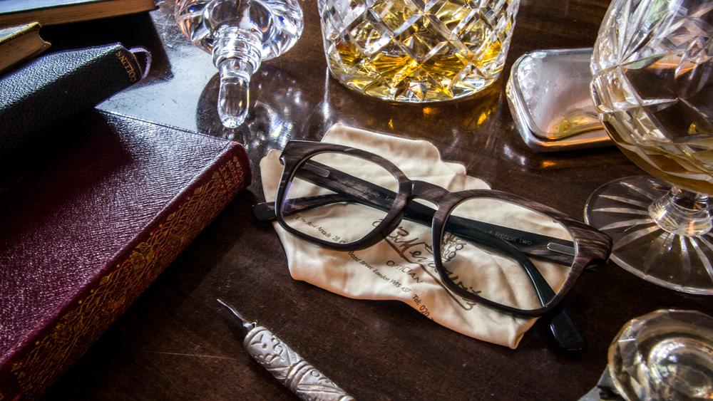 E.B. Meyrowitz custom glasses