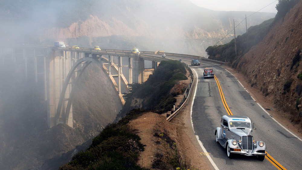 The Dream Drive road rally commemorating the reopening of Pacific Coast Highway in Northern California.