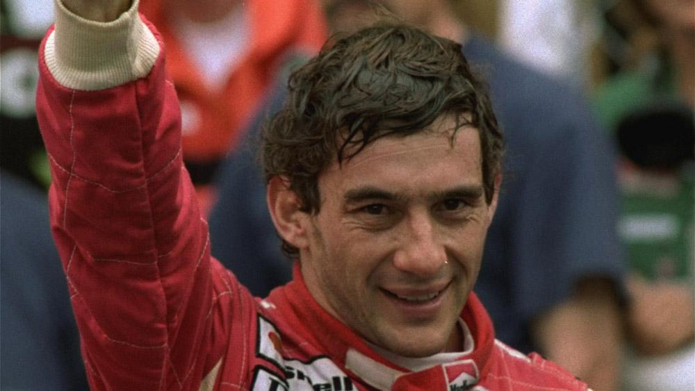 Racecar driver Ayrton Senna.
