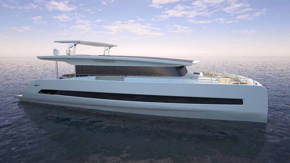 Silent Yachts 79 electric yacht solar yacht catamaran