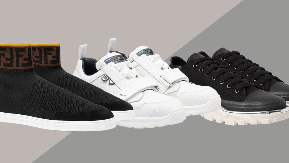Sporty Men's Designer Sneakers for Fall