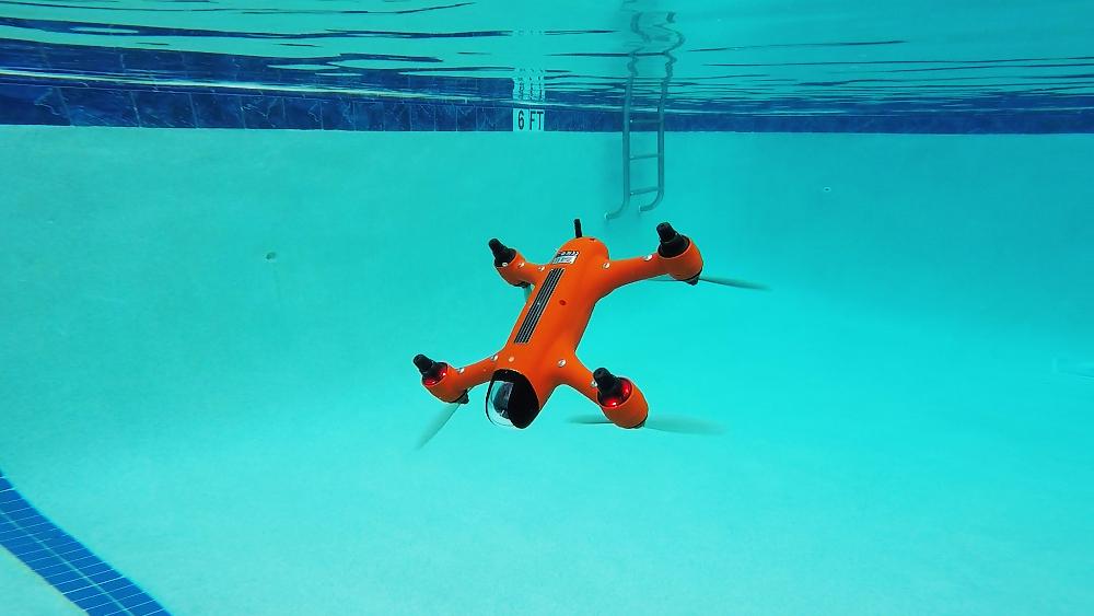 SwellPro Spry submerged underwate