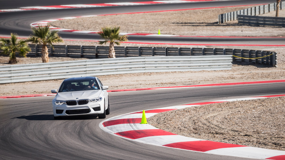 Driving at the BMW Performance Center in Thermal, Calif.