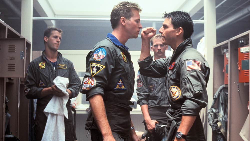 Val Kilmer Tom Cruise Top Gun
