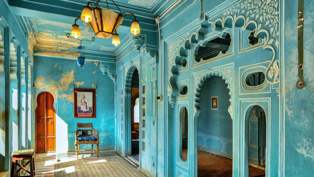 India palace blue room