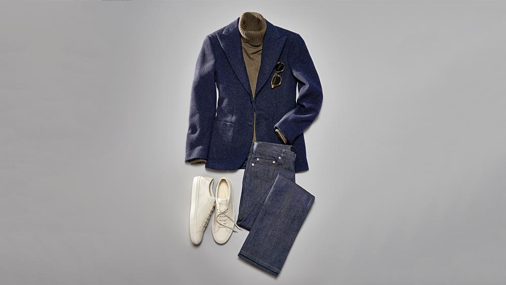 fall sport coat jeans