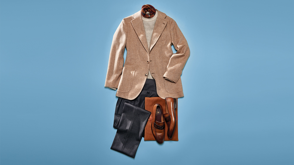 fall sport coat beige