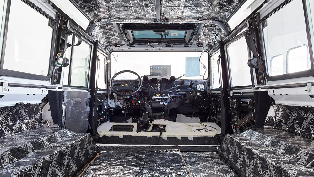A Land Rover Defender receives bespoke bodywork and enhancements at Ares Design.