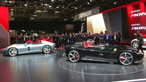 The Ferrari Monza SP1 and SP2.