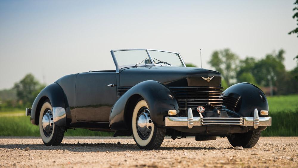 A 1937 Cord 812 Cabriolet.