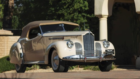 A 1941 Packard Custom Super Eight One Eighty Convertible Victoria by Darrin.