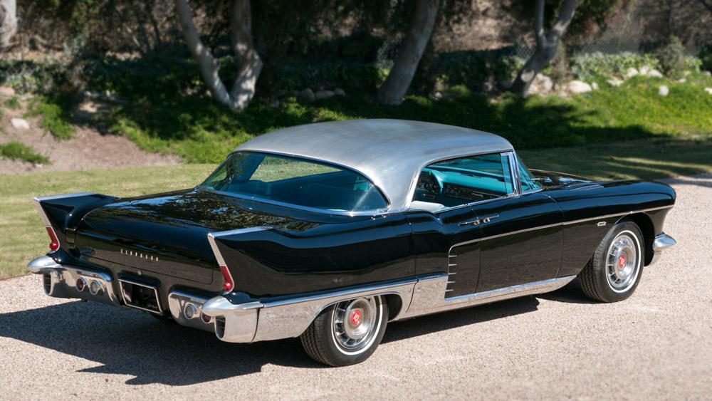 A 1957 Cadillac at the Collector Car Vault in Santa Paula, Calif.