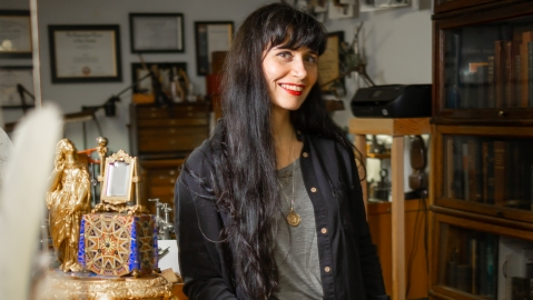 Anitquarian horologist Brittany Nicole Cox