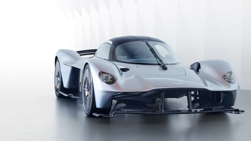 Rendering of the Aston Martin Valkyrie.