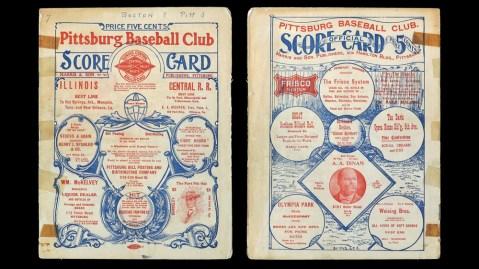 1903 World Series Program