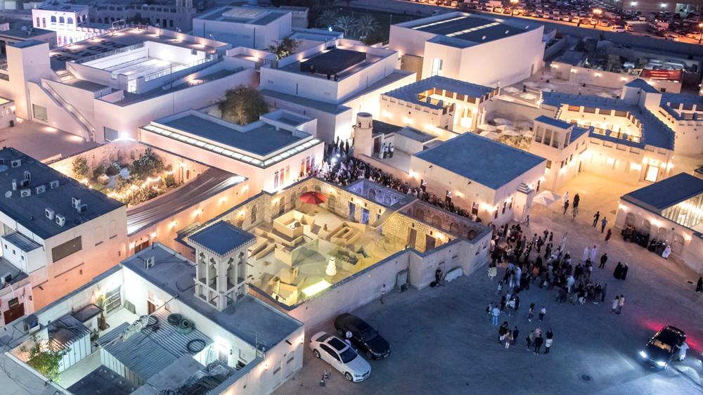 Aerial view of Al Mureijah Square