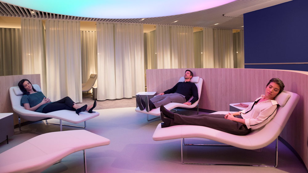 Air France's Instant Relaxation area