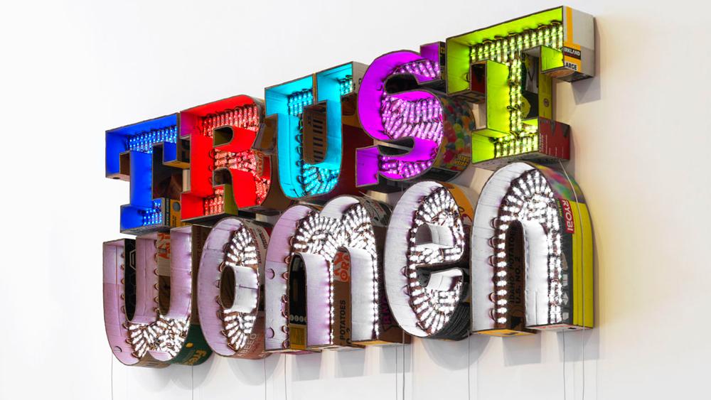 Trust Women mixed media Andrea Bowers