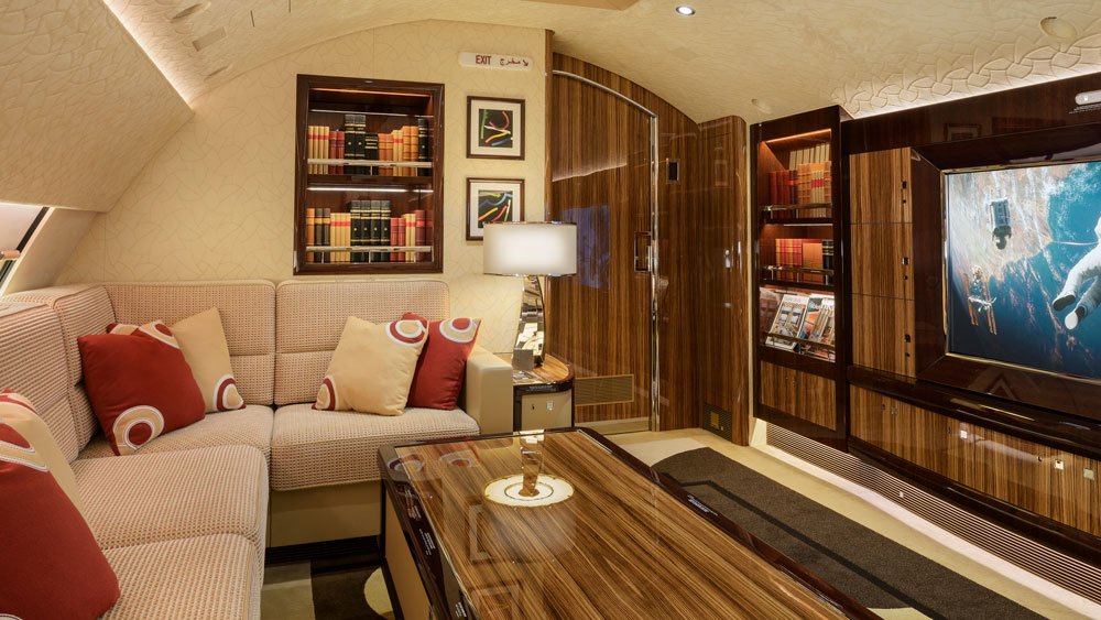 Cabinet Pinto private jet interiors