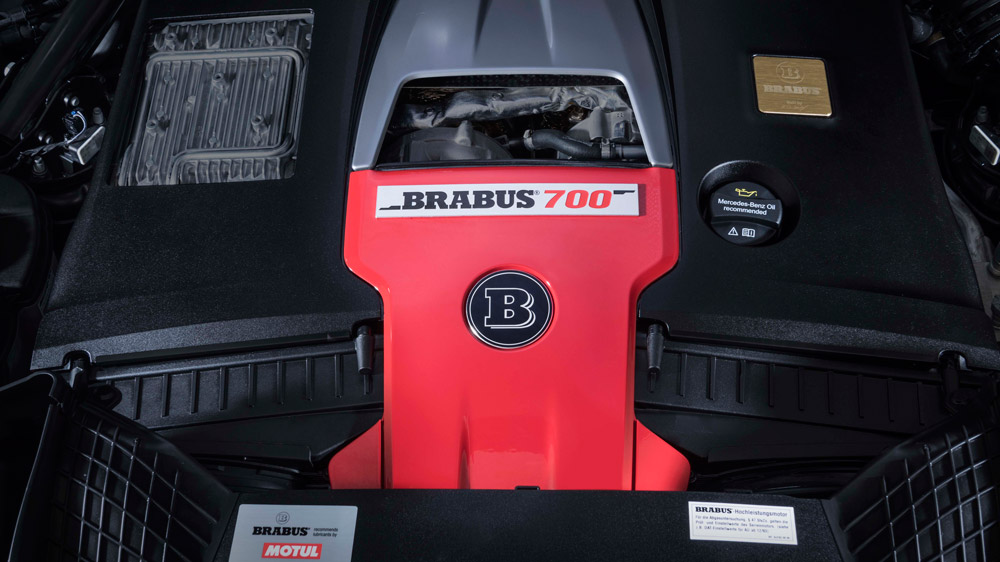 The engine of the Brabus 700 Widestar.